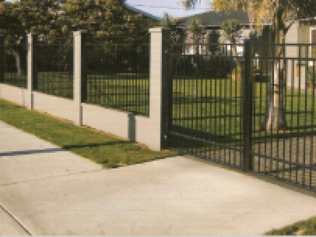 Belaire 1.8 high fence in fill panels and gate
